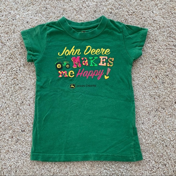 John Deere girls teeshirt size 7